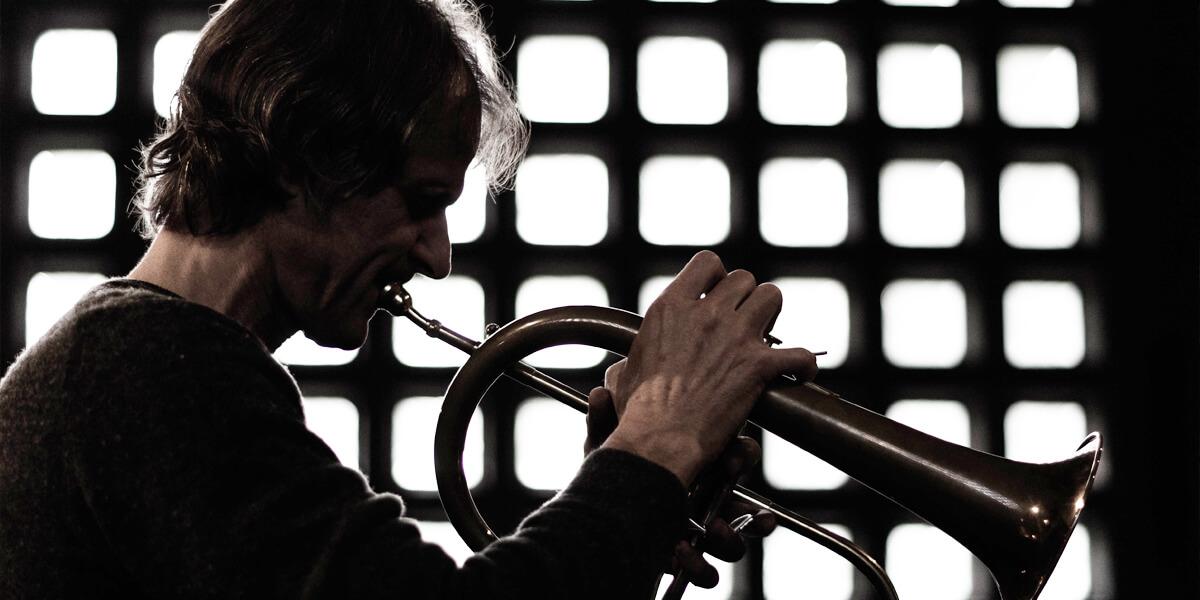 Intuitive Music Orchestra in Köln am 23.10.2015 mit Markus Stockhausen, Foto: Viramo